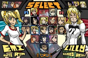 Katawa Dojo - SELECT YOUR FIGHTER by Mul