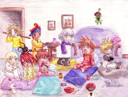Slumber party by deleriumsedge