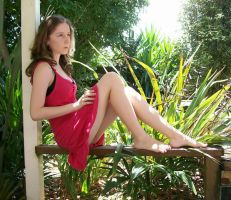 Coral Dress, Outside Stock 06 by Elaweasel
