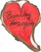 Burning for you. Valentine exchange by tamarialovestechumsa