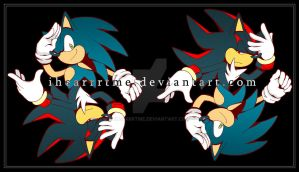 Sonic and Shadow by ihearrrtme
