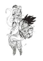 Goku vs frieza by bloodsplach