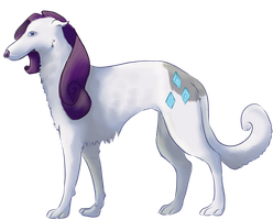 Rarity Dog by ammy-o