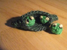 crochet peasecod of Toy Story 3 by Twinsmanns