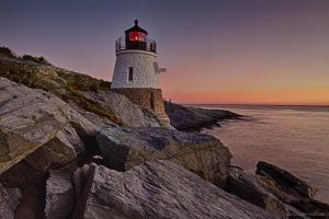 Castle Hill Lighthouse Dusk by pewter2k