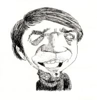 Urbanelf Caricature in Ink by aaronphilby