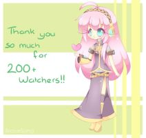 Thanks for 200+ watchers! by AngelySugar