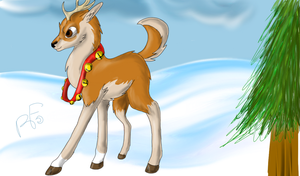 Trot Through the Snow by CrazyHuskyArchie