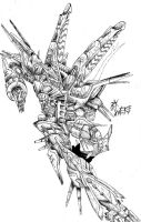 alphamon ex veemon x over by WEREsandrock