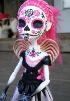 Day of the Dead Monster high Custom Cupid 2 by AdeCiroDesigns
