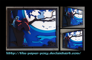 Somber Inuyasha Shadowbox by The-Paper-Pony
