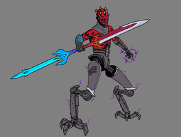 Darth Maul Soul-embrace by splaty