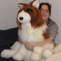 Big collie plush by Bladespark