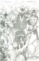 Captain Comic Con Issue #1 Cover Pencils by RNABrandEnt