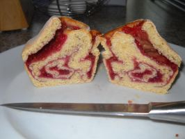Brioche Bun cross section by Bisected8