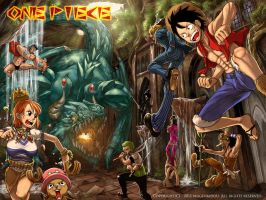 Fight the dragon - OnePiece by mugenkidou