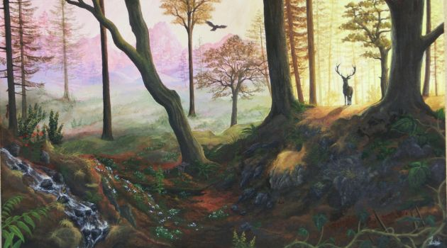 Forest Dream (Acrylics) by Tyooky