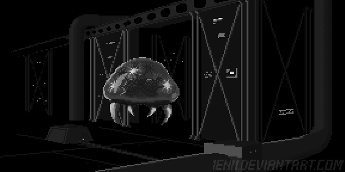 AM2R intro slide: Metroid by 1Eni1