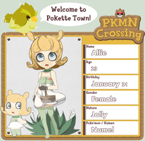 PKMN Crossing: Allie by iiKiwiii