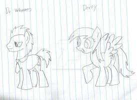 Derpy and The Docter by DarkAmethyst1