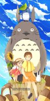 .:One day with Totoro:. by Kats-tan