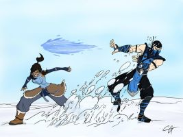 30 Day Drawing challenge Day 2: Snowball Fight! by czone