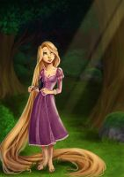 Rapunzel - Out there by Luzetteart