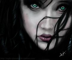 Girl - Green eyes by Night-Disorder