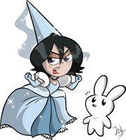 Cute Lil' Angry Princess Rukia-chan... and Chappy by JaviDLuffy