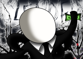 Slender man finally got his 20 dollars :3 by Mephy-kuns