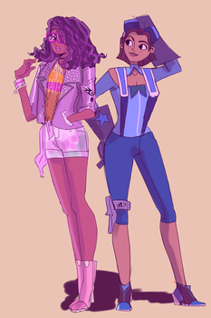 Burner Claire and Tennie by choco-pudge