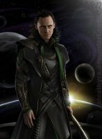 Loki and the universe by eleathyra