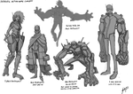 Sci-fi characters concept by Genbaku