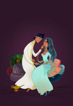 Disney Wedding: Aladdin by spicysteweddemon