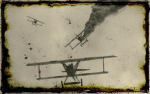 Fokker D VII Dog Fight by spunkyreal