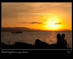 Watching the sun go down by 2Stupid2Duck