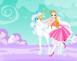 Unicorn dress up by Brandee-Ssj-Doll
