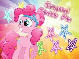 Crystal Pinkie Pie Wallpaper by funyan-lineart