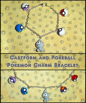 Pokeball and Castform Bracelet by YellerCrakka