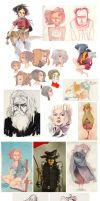 Sketchdump 001 by coifishu