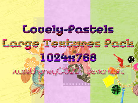 Lovely Pastels Textures Pack by sweethoney0822