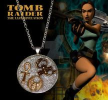 Tomb Raider resin pendant by crafting-Farah