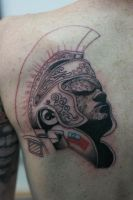 Centurion WIP 1 by Lucky-Cat-Tattoo