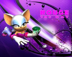 Rouge the Bat - Wallpaper by Knuxy7789