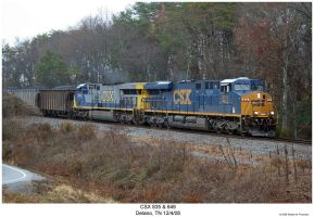 CSX 835 and 649 by hunter1828