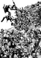2000 AD vs the zombies by JonTaylorArt