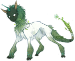 Green Unicorn by Yasux