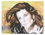 Sandra Bullock (watercolor painting) by eyeqandy