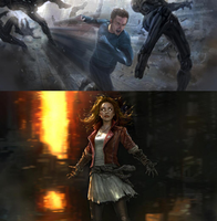 AVENGERS 2 - Scarlet Witch and Quicksilver Art by RoxasXIIIK