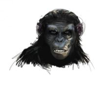 Koba - The Rise of planet of the apes (face) by MBRINGS